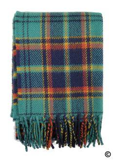 Irish Tartan, Tartan Tie, Tartan Scarf, Plaid Blanket, Tartan Clothing, Granny Square Quilt, Irish Warrior, Pillow Fabric, Hand Weaving