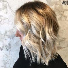 Lob haircut and beautiful Balayage!  #balayage #lob #colormelt #shadowroot #icyblonde  Instagram my_lavish_looks