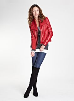 Cute, red leather jacket