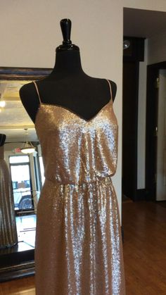 Long V-neck Sequin Bridesmaid Dress with Spaghetti Straps   Available now at our Farmington, Missouri boutique. Size 14 (Runs Small) Sequin Bridesmaid Dresses, Bridesmaids, Cocktail Videos, Farmington Missouri, Most Beautiful, Cocktails, Sequins, Boutique, Bridal