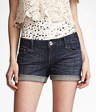 cuffed denim shorts #ExpressJeans