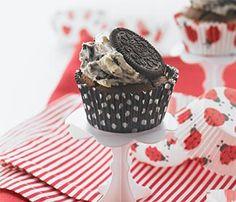 OREO Black Bottom Cupcakes with OREO Cream - this recipe from Cadbury.co.nz is simply divine.