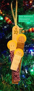 Easy Nativity Ornament Tutorial