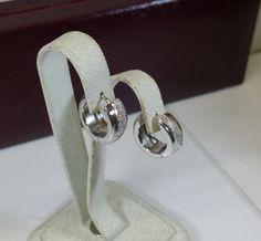 Creolen Ohrringe 925 Silber Glitzer Vintage SO253 von Schmuckbaron