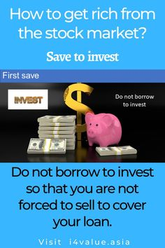 """You should not invest in the stock market with borrowed money. The stock market is volatile in the short term. If you have borrowed to invest, there is a likelihood that in the event there is a temporary decline, you could be required to top up. Failure to do so will likely result in your shares being """"forced sold"""". When this happens, you turn the paper loss into an actual loss. #i4value #valuation #dividendinvesting #indexfund #investingmoney Value Investing, Investing In Stocks, Investing Money, Dividend Investing, Fundamental Analysis, Penny Stocks, Risk Management, How To Get Rich, Stock Market"""