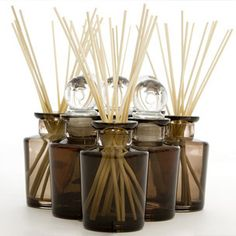 Aquiesse Diffusers - Alcohol-free base. With smokey perfume bottle and 12 bamboo reed sticks. #Sale $42.99.