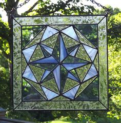 Stained Glass Panel Quilt Block Tumbling par HillLillyDesigns
