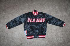 Portland Trailblazers Blazers Black Womens NBA Starter Jacket Red Lining Size S #Starter #PortlandTrailBlazers