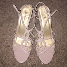 Tan heels Gorgeous nude heels, straps around the ankles. 2 in heels, only worn once, perfect condition!  Shoes Heels