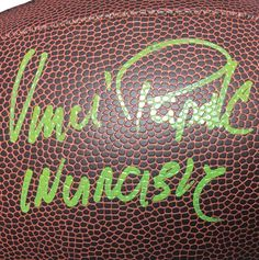 7afd0f5eb88 Vince Papale Philadelphia Eagles Signed Football Inscribed Invincible (JSA)