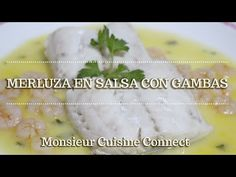 MERLUZA EN SALSA CON GAMBAS en Monsieur Cuisine Connect   Ingredientes entre dientes - YouTube Salsa Verde, Lidl, Make It Yourself, Ethnic Recipes, Youtube, Food, Silver, Fish Recipes, Salads