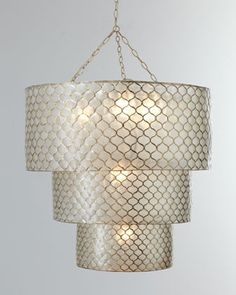 for master bath. Three-Tier Moroccan Chandelier - Horchow