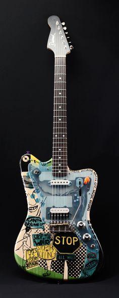 »STOP THE WAR« une oeuvre très personnelle par l'artiste Deimel Firestar. Retrouvez des cours de guitare d'un nouveau genre sur MyMusicTeacher.fr