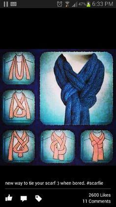 Fun scarf knot