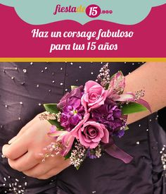 Purple and Pink Flowers (Roses) on Wrist Corsage for Prom , rosen, Wrist Flowers, Prom Flowers, Bridal Flowers, Homecoming Flowers, Bridesmaid Flowers, Beautiful Flowers, Flower Corsage, Wrist Corsage, Prom Corsage