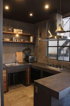 √ Scandinavian Kitchen Design For Your Lovely Home - Boxer JAM Loft Kitchen, Kitchen Room Design, Kitchen Layout, Home Decor Kitchen, Interior Design Kitchen, Home Kitchens, Industrial Kitchen Design, Modern Kitchen Design, Rustic Kitchen