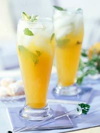 Peach-Mint Green Tea, I make fresh mint green tea but never thought to add peach or any flavor wow!
