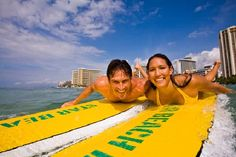 While in Hawaii visiting an active volcano, why not cross of another of my bucket list items and try surfing? Honolulu Hotels, Honolulu Hawaii, Hawaii Vacation, Dream Vacations, Big Wave Surfing, Learn To Surf, Swimsuits For All, Big Waves, Guide Book