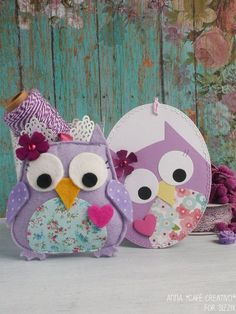 Owl Felt-keychains-oval tag-sizzix-big-shot Owl Felt, Shots Ideas, Owl Card, Owl Crafts, Big Shot, Cute Cards, Projects To Try, Throw Pillows, Crafty