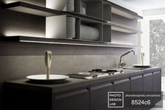 Cabinet with sink and stove - Best interior design stock photos