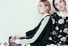 J.Crew Collection: Nili Lotan® raglan cable-sleeve sweater and midnight floral top.