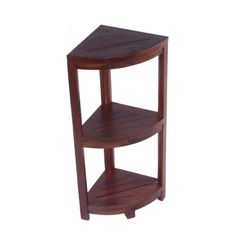 Oasis Fully Assembled Solid Teak 3 Tier Corner Shelf- Ideal for Shower, Bathroom, Patio, Deck, or Kitchen. Leg Levelers for Uneven Surfaces.