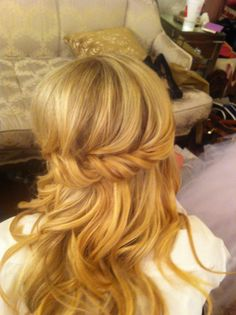 Great bridal hair if you are going to do it down. See the full wedding on the Query Events Facebook Page https://www.facebook.com/media/set/?set=a.708055502553707.1073741829.274839649208630=1