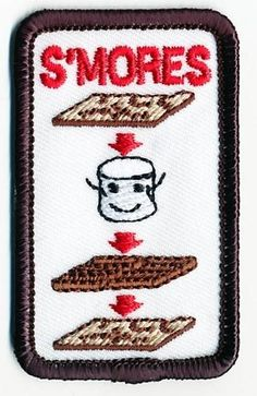 Girl Boy Cub HOW TO MAKE A SMORES Fun Patches Crests Badges SCOUTS GUIDE Iron On