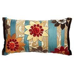 These colors are for my new family room! I saw this at Pier1 a couple weekends ago, and I fell in love with this pillow! I'm not paying $40 for 1 pillow, but I would love to find something like this that's cheaper somewhere else! It looks much prettier in person!
