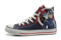 Captain America Converse Chuck Taylor Hightop The Avengers Shoes