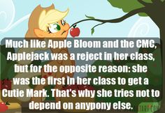 Yeeeeeeah...no. Applejack tells Apple Bloom that she was the last in her class to get a Cutie Mark and that Big Mac was also the last in his class, too.