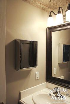 Commercial Bathroom Paper Towel Dispenser wood paper towel dispenser, white healthy shelf, single sheet