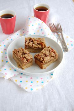 Apple pie bars / Barrinhas de torta de maçã