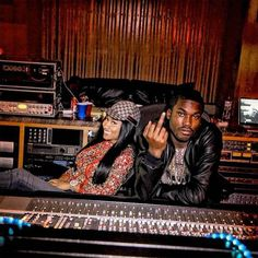 A%% so fat I need a lapdance Somebody tell the waitress bring some f#%kin' racks in The £tripper run into the pole when we back in All gold Trinidad James on my Aston ~ Meek Mill - I Be On Dat ft. Nicki Minaj ect.  Studio Shot.