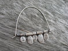 Sterling silver artisan flip flop earrings by LisaColbyMetalsmith