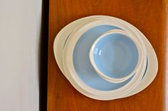 Vintage Retro Mid Century Wedgwood Summer Sky Blue Dinner Set. Chinaware Made in England Etruria Barlaston Bowls Plates. 60s Dinnerware Set by catbedoven on Etsy