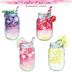 Katona Dóra : Watercolor lemonade