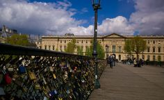 For all you doe-eyed #lovers who want to travel to #Paris to hang a #lovelock off the #PontdesArts, too bad! That is illegal now and the bridge will be upgraded so you cannot! You can cry now!