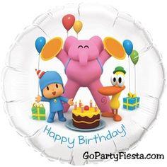 Pocoyo Foil Balloons Happy Birthday