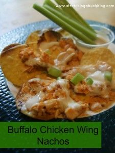 Buffalo Chicken Wing Nachos Recipe | Appetizer Fall Party Food Ideas