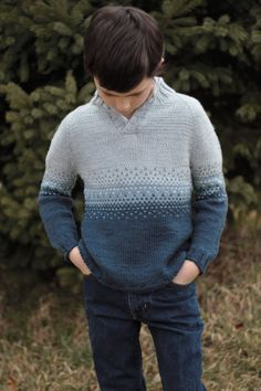 For your sharp dressed lad: Metamorphic by Paper Daisy Creations Baby Boy Knitting Patterns, Baby Cardigan Knitting Pattern, Fair Isle Knitting Patterns, Kids Patterns, Knitting For Kids, Crochet For Kids, Baby Knitting, Boys Sweaters, Men's Knits