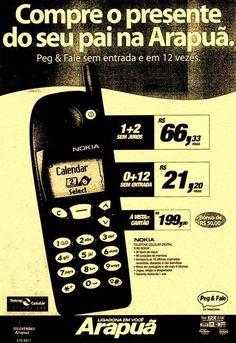 Propaganda da Telesp Celular anunciando celular Nokia 5180 no Dia dos Pais da…