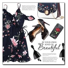"""""""#darkflorals"""" by fashion-pol ❤ liked on Polyvore featuring WALL and darkflorals"""