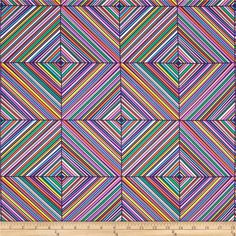 Michael Miller Fiesta Estella Grape from @fabricdotcom  Designed for Michael Miller, this cotton print is perfect for quilting, apparel and home decor accents. Colors include white, aqua blue, peach, orange, and shades of purple, grey and green.