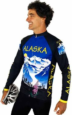 Alaska Yellow Coastal Bike Jersey Free Spirit Bike Jerseys