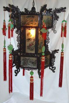 chinese palace lanterns | Large Chinese Antique Style Dragon Palace Lantern 2 ft. For Sale ...