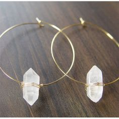 wire wrapped crystal earings