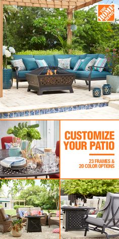 Your dream patio becomes reality with our selection of patio furniture. With more styles to choose from now than ever, browse our patio furniture collections and get patio design ideas from the experts. Backyard Patio Designs, Pergola Patio, Diy Patio, Pergola Ideas, Pergola Plans, Patio Ideas, Pergola Kits, Garden Ideas, Rustic Pergola