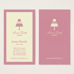 段になったケーキの名刺-ピンク 名刺 Web Banner Design, Web Design, Business Cards, Place Cards, Place Card Holders, Kawaii, Logo, Paper Envelopes, Design Web