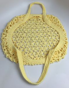 Crochet Market Bag Detail Handle View